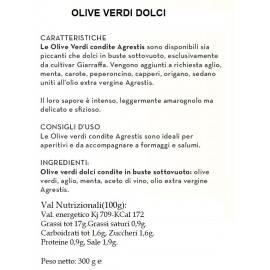 Sycylijskie zielone oliwki buccheri 300 G Agrestis - 2