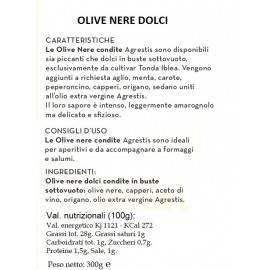 aceitunas negras buccheri sicilianas 300 G Agrestis - 2