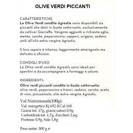 würzige sizilianische grüne Oliven von Buccheri 300 g Agrestis - 2