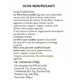 azeitonas pretas picantes de buccheri siciliano 300 g Agrestis - 2
