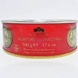 Atún mediterráneo en aceite de oliva de estaño 500 g Campisi Conserve - 2