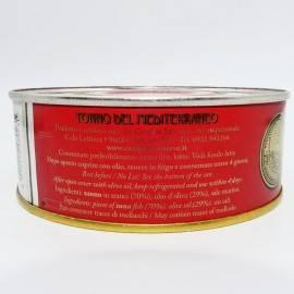 Atún mediterráneo en aceite de oliva de estaño 500 g Campisi Conserve - 3