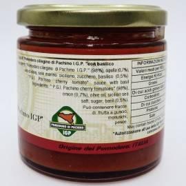 salsa de tomate cereza pachino pgI con albahaca 220 g Campisi Conserve - 2