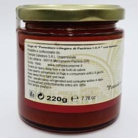 salsa de tomate cereza pachino pgI con albahaca 220 g Campisi Conserve - 4