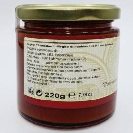 pachino sauce tomate cerise pgI au basilic 220 g Campisi Conserve - 4