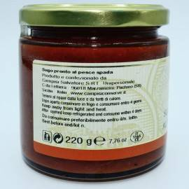 ready-made swordfish sauce 220 g Campisi Conserve