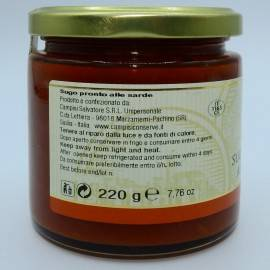 salsa preparada para cerdeña 220 g Campisi Conserve - 2