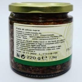 black olive pate' 220 g Campisi Conserve - 2