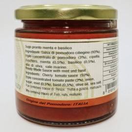gotowy sos miętowy i bazyliowy 220 g Campisi Conserve - 2