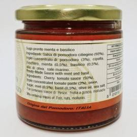 salsa de menta y albahaca ya hecha 220 g Campisi Conserve - 2