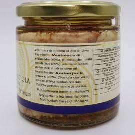 vientre de ámbarjack en aceite de oliva 220 g Campisi Conserve - 2