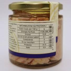 tuna ventresca(belly) in olive oil 220 g Campisi Conserve - 4