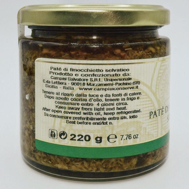pasztet z dzikiego kopru włoskiego 220 g Campisi Conserve - 2