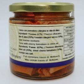 atún con tomate cherry en aceite de oliva 220 g Campisi Conserve - 3