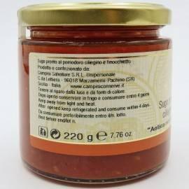 gotowy sos z pomidorem wiśniowym i koprem włoskim 220 g Campisi Conserve - 2
