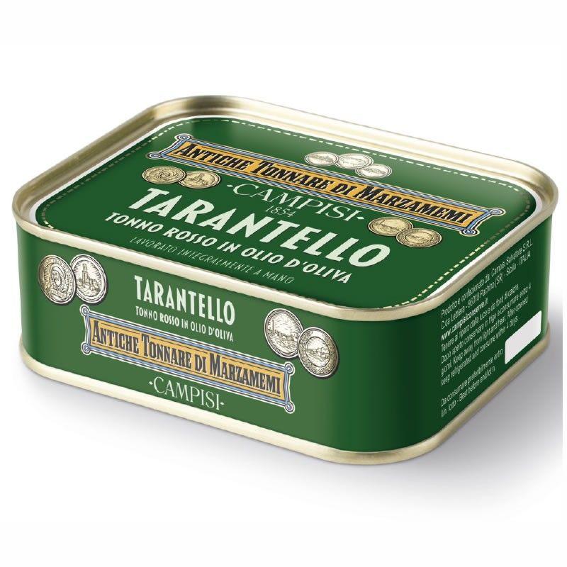 tarantello de atún rojo en aceite de oliva 340 g Campisi Conserve - 1