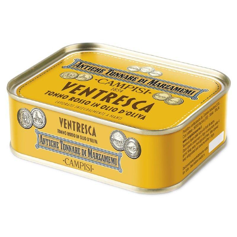 bluefin tuna ventresca(tuna belly) in olive oil 340 g Campisi Conserve - 1