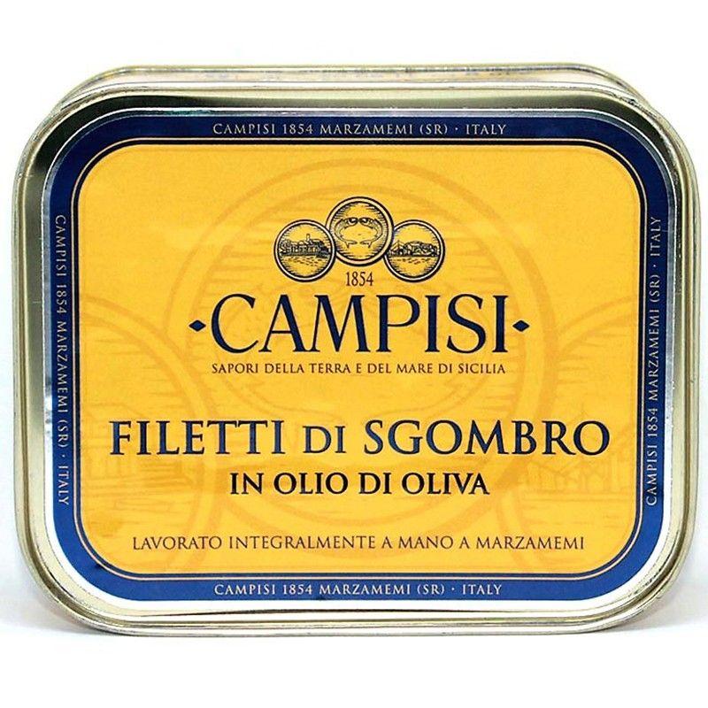 オリーブオイルのサバの切り身 340 グラム Campisi Conserve - 1
