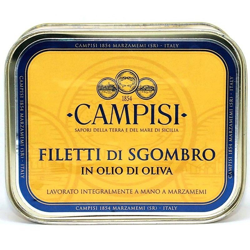 filetes de caballa en aceite de oliva 340 g Campisi Conserve - 1