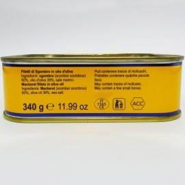 filetes de caballa en aceite de oliva 340 g Campisi Conserve - 4