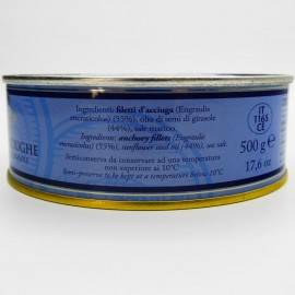 anchovy fillets with chilli pepper in tin 500 g Campisi Conserve - 3