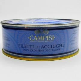 anchovy fillets with chilli pepper in tin 500 g Campisi Conserve - 2