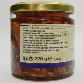 kawałki tuńczyka błękitnopłetwego (buzzonaglia) 220 g Campisi Conserve - 2