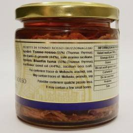 kawałki tuńczyka błękitnopłetwego (buzzonaglia) 220 g Campisi Conserve - 3