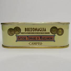 pezzetti di tonno rosso ( buzzonaglia) in olio di girasole 340 g Campisi Conserve - 2