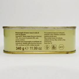 kawałki tuńczyka błękitnopłetwego (buzzonaglia) w oleju słonecznikowym 340 g Campisi Conserve - 3