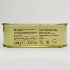 trozos de atún rojo (buzzonaglia) en aceite de girasol 340 g Campisi Conserve - 3