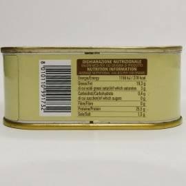 trozos de atún rojo (buzzonaglia) en aceite de girasol 340 g Campisi Conserve - 4
