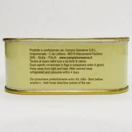 pezzetti di tonno rosso ( buzzonaglia) in olio di girasole 340 g Campisi Conserve - 5