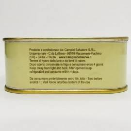 trozos de atún rojo (buzzonaglia) en aceite de girasol 340 g Campisi Conserve - 5