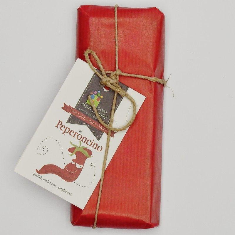 chilli chocolate 100 g Casa Don Puglisi - 1